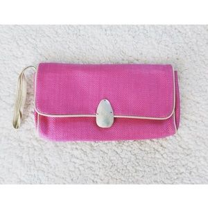 Handbags - Pink shell clutch